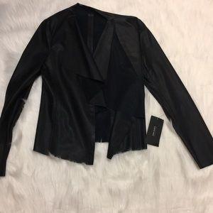 Zara draped jacket / blazer in faux leather